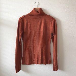 BCBGMaxAzria Burnt Orange Turtleneck Sweater